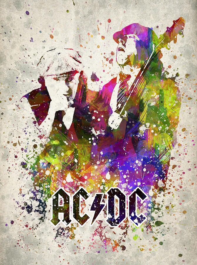 Acdc Digital Art - ACDC in color by Aged Pixel