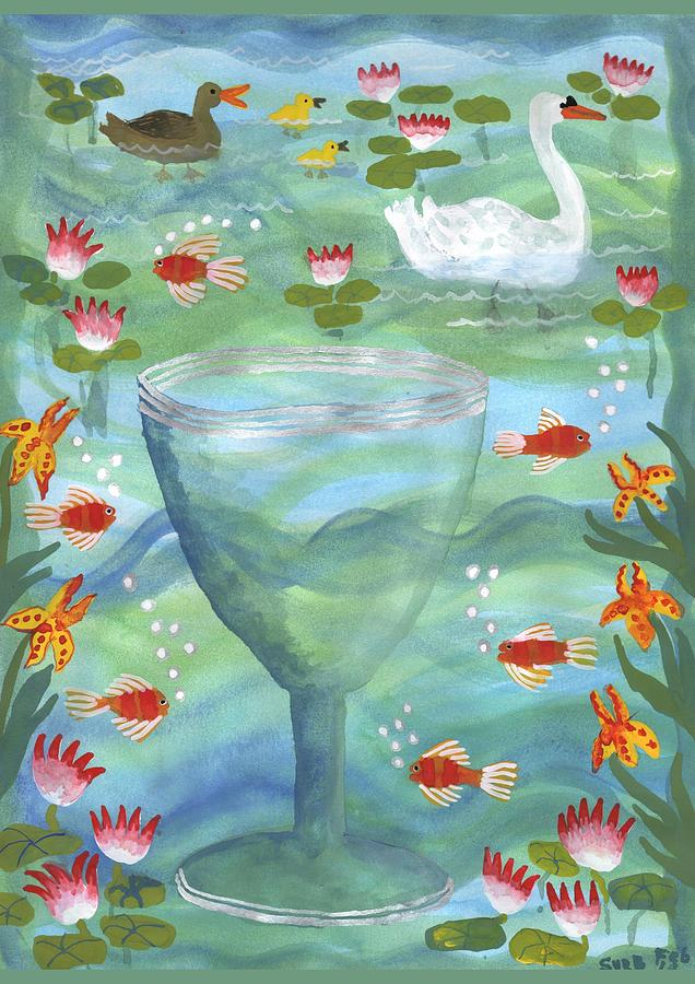 Tarot Painting - Ace Of Cups by Sushila Burgess