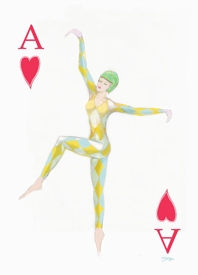 Ace Digital Art - Ace Of Hearts by Tom Conway
