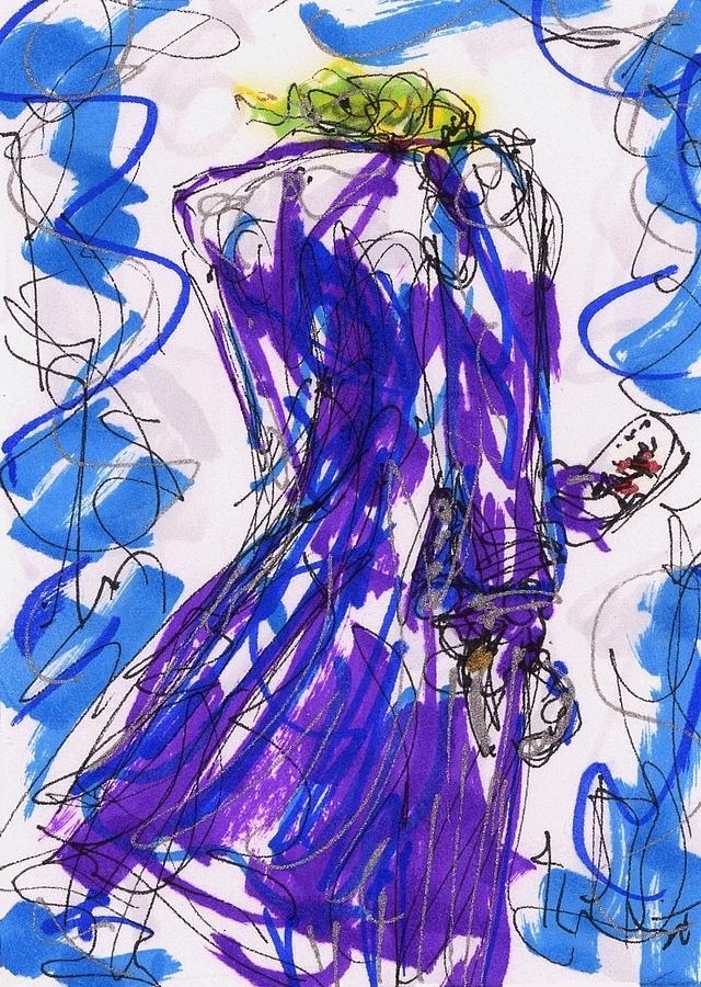 Joker Drawing - Aceo Joker V by Rachel Scott