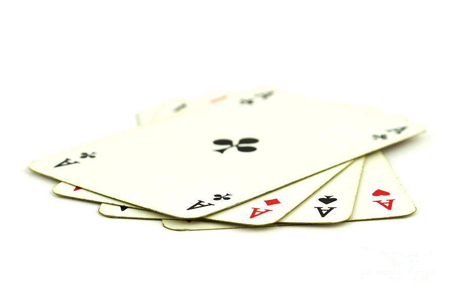 Cards Photograph - Aces by Blink Images