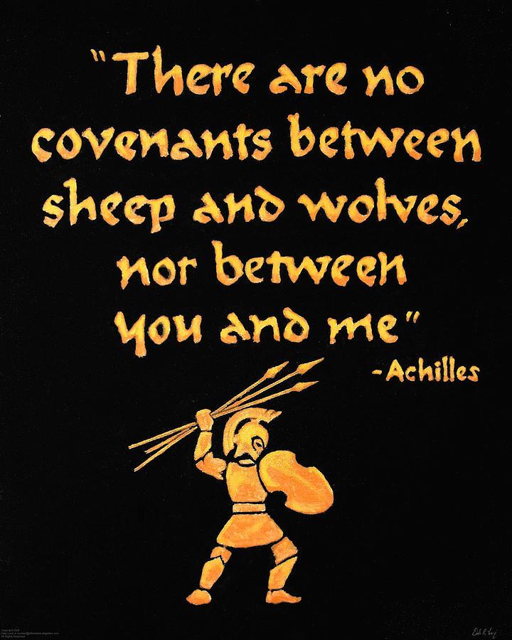 Achilles Painting - Achilles Admonition by Dale Loos Jr