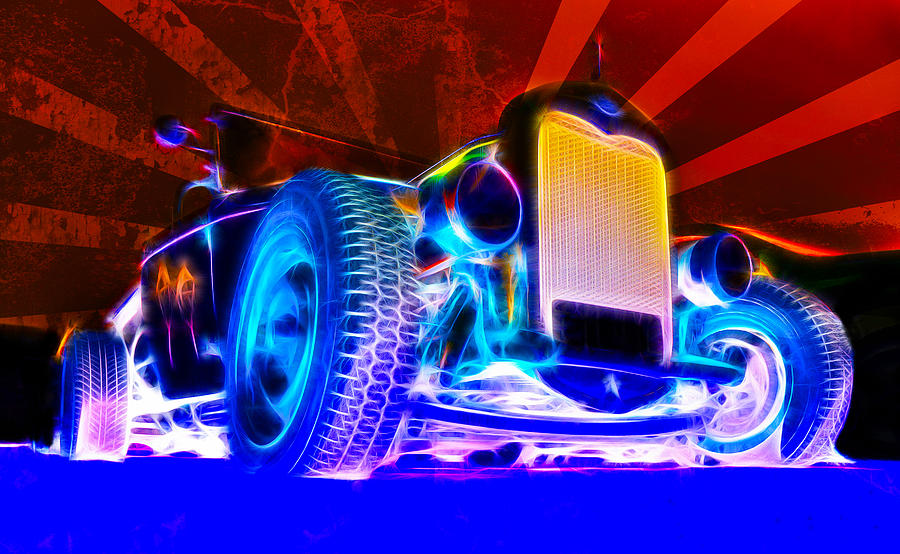 Hot Rod Photograph - Acid Ford Hot Rod by Phil motography Clark