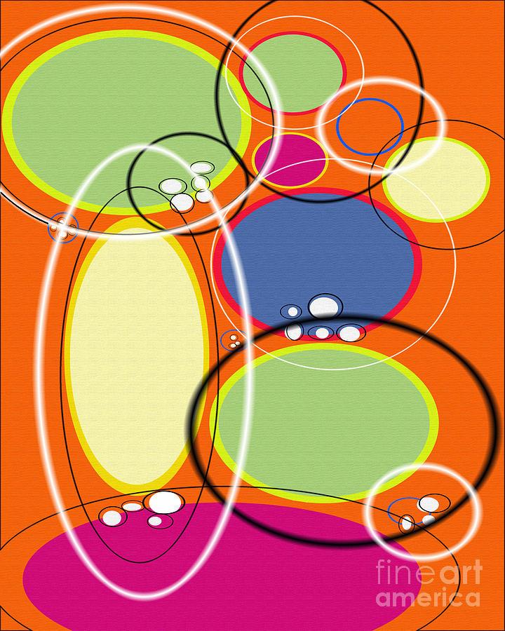 Tangerine Digital Art - Acme Retro II by Ricki Mountain