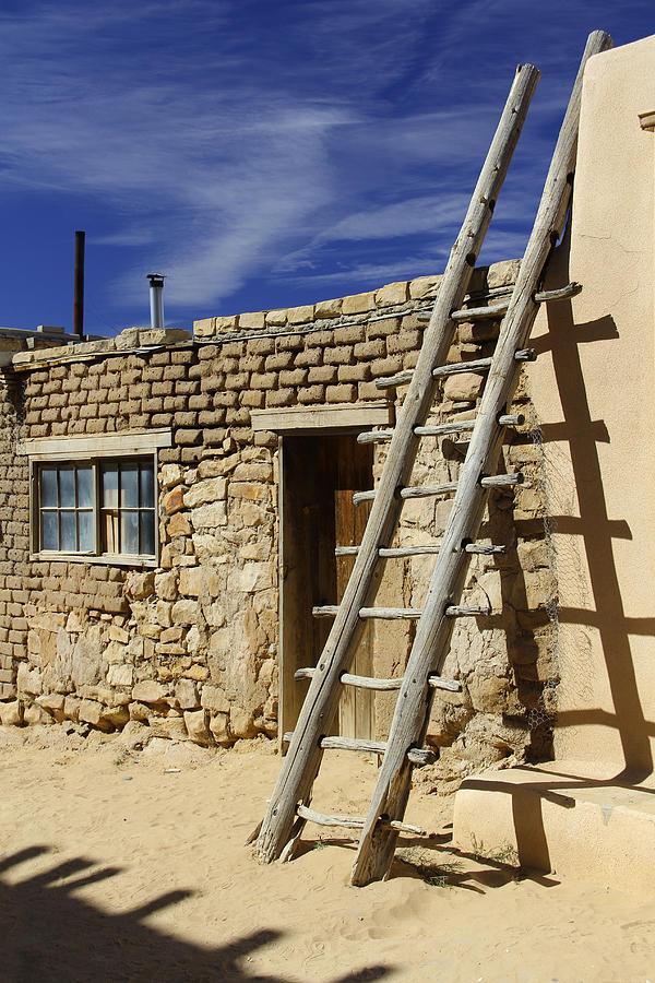 Acoma Pueblo Photograph - Acoma Pueblo Adobe Homes 4 by Mike McGlothlen