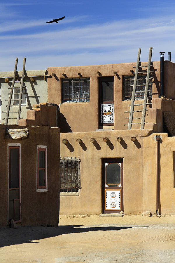 Acoma pueblo adobe homes photograph by mike mcglothlen for Adobe construction pueblo co