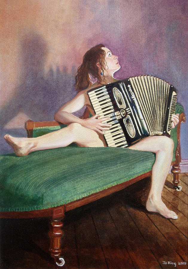 Accordion Painting - Acordeonista by Jo King