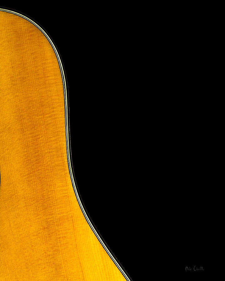 Guitar Photograph - Acoustic Curve In Black by Bob Orsillo