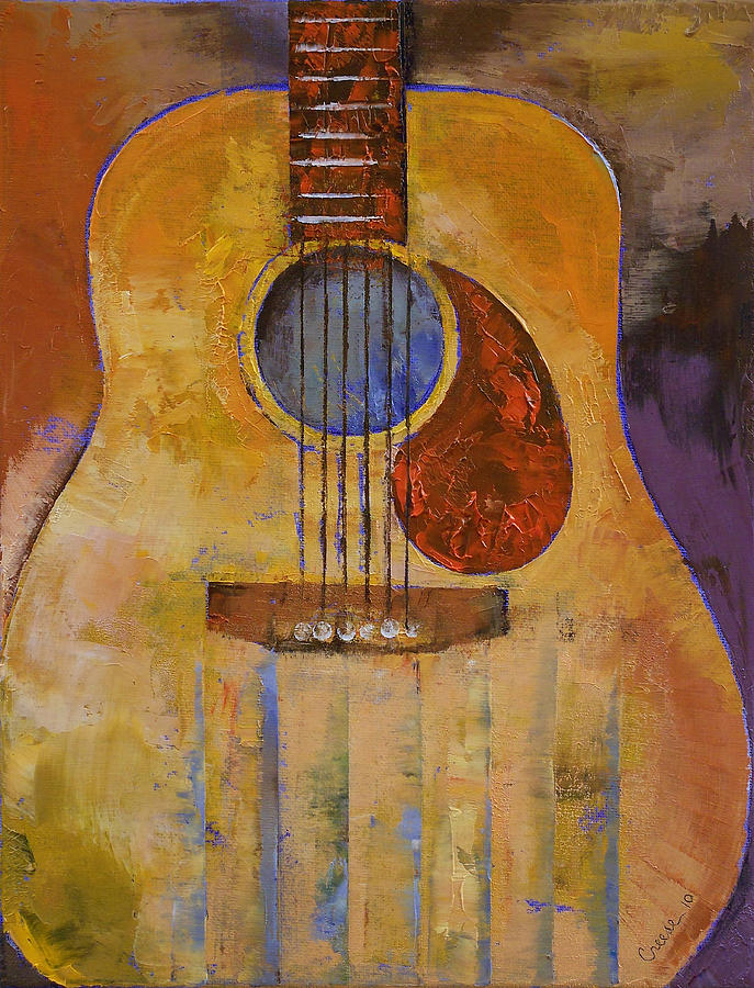 acoustic guitar painting by michael creese. Black Bedroom Furniture Sets. Home Design Ideas
