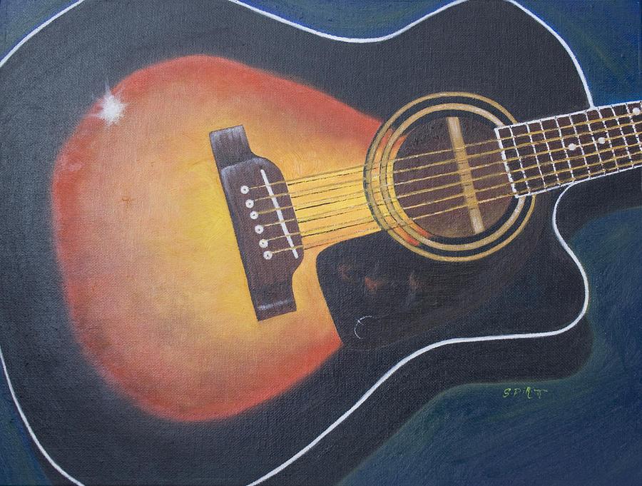 Still Life Painting - Acoustic Sunburst by Stephen J DiRienzo