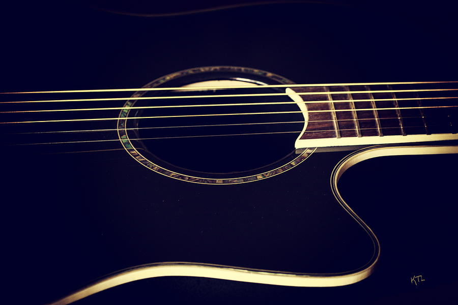 Guitar Photograph - Acoustically Sound by Karol Livote