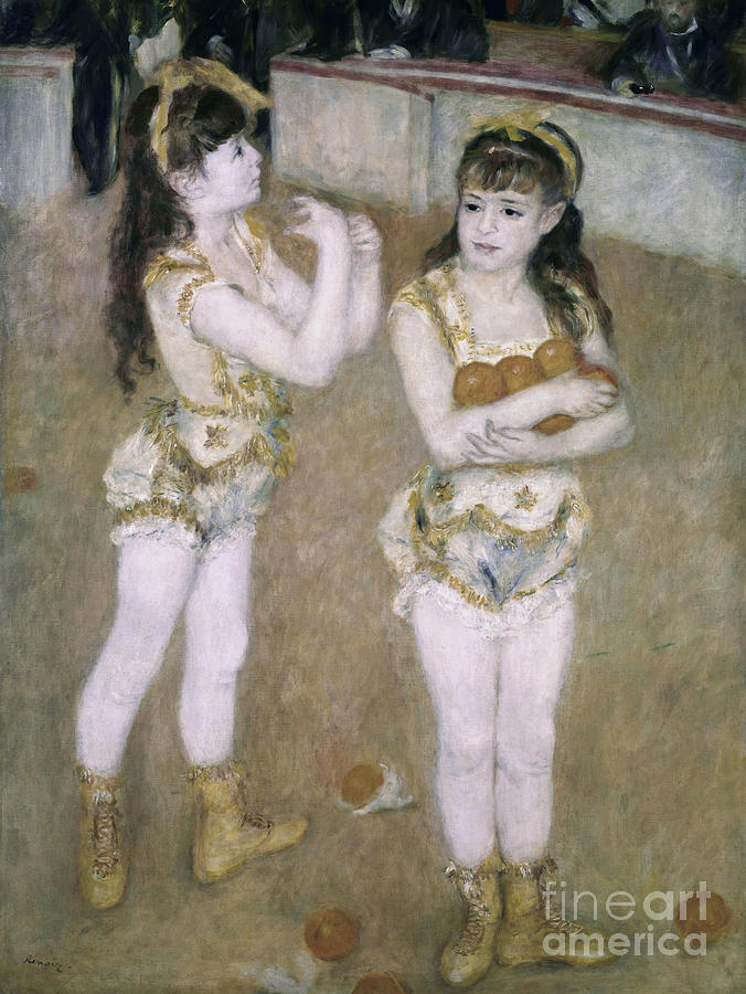 Acrobats Painting - Acrobats At The Cirque Fernand by Pierre Auguste Renoir