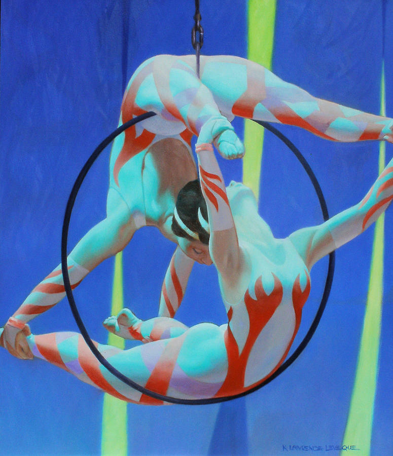 Acrobats Painting - Acrobats by Kevin Lawrence Leveque