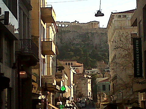 Town Photograph - Acropolis By Far by Andreea Alecu