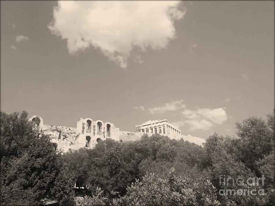 Acropolis Photograph - Acropolis In Black by Katerina Kostaki