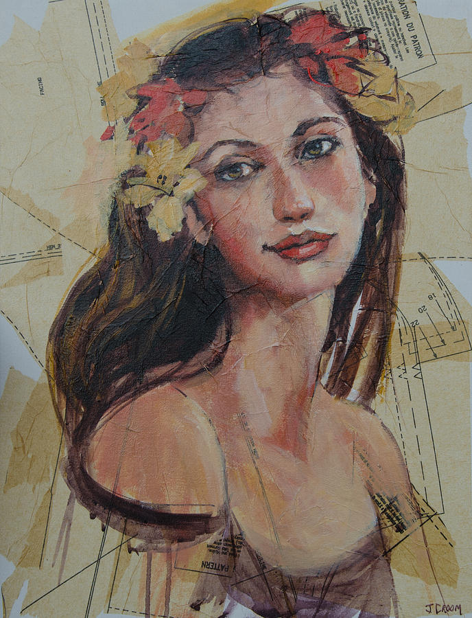 Girl Painting - Across A Crowded Room by Jennifer Croom