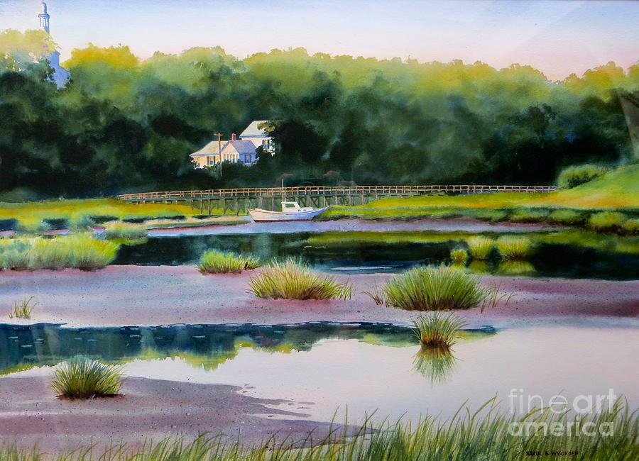 House Painting - Across Duck Creek by Karol Wyckoff