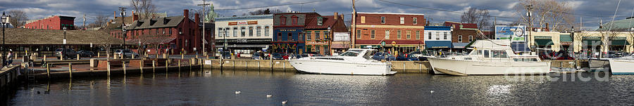 Annapolis Photograph - Across Ego Alley Panorama by Benjamin Reed
