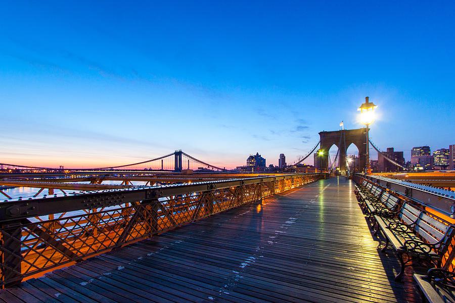 Big Apple Photograph - Across The Bridge by Daniel Chen