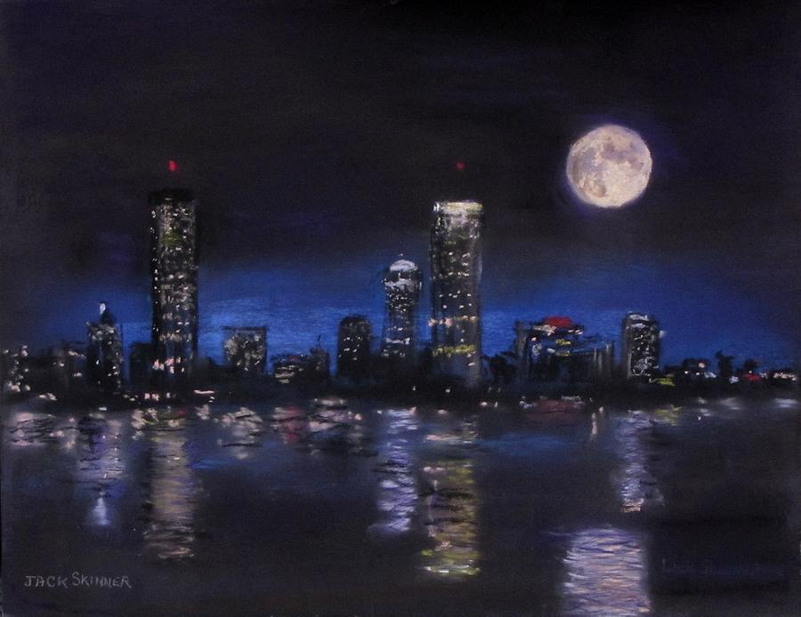 Boston Painting - Across The Charles At Night by Jack Skinner