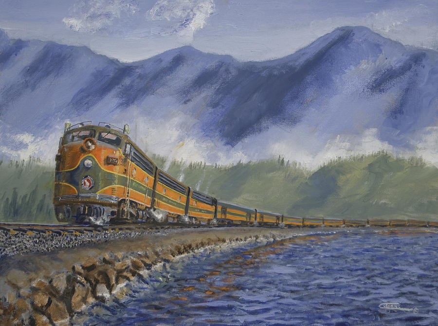 Train Painting - Across The Great Northwest by Christopher Jenkins