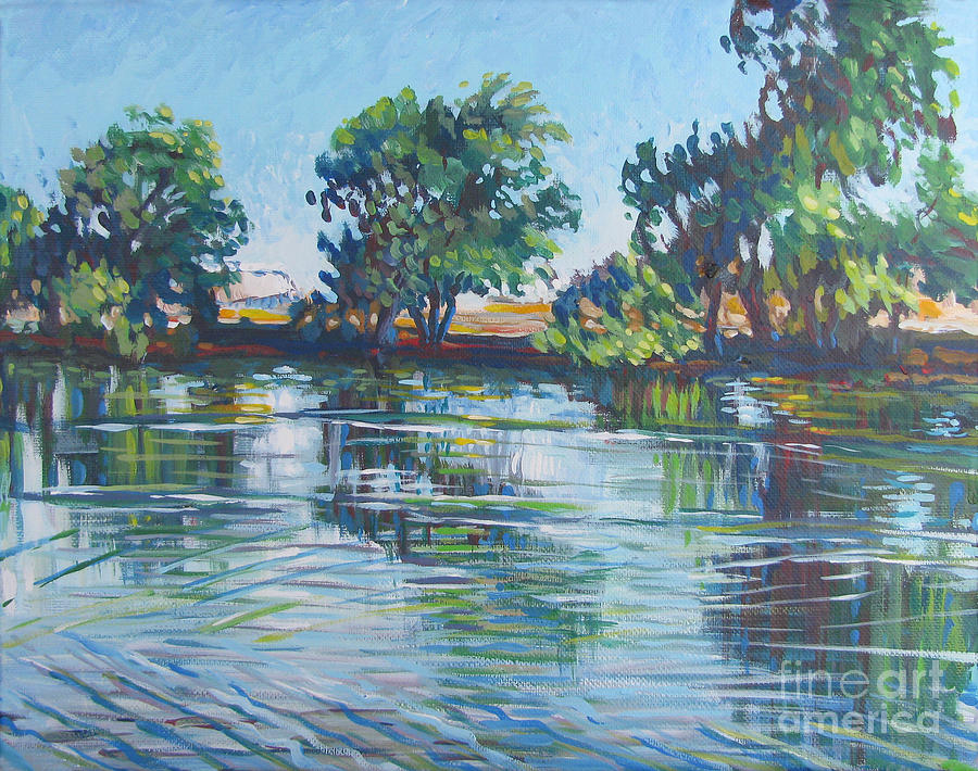 Vanessa Hadady Bfa Ma Painting - across the Joan Darrah Promenade by Vanessa Hadady BFA MA