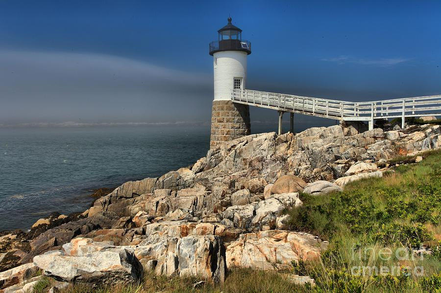 Maine Lighthouse Photograph - Across The Seas by Adam Jewell