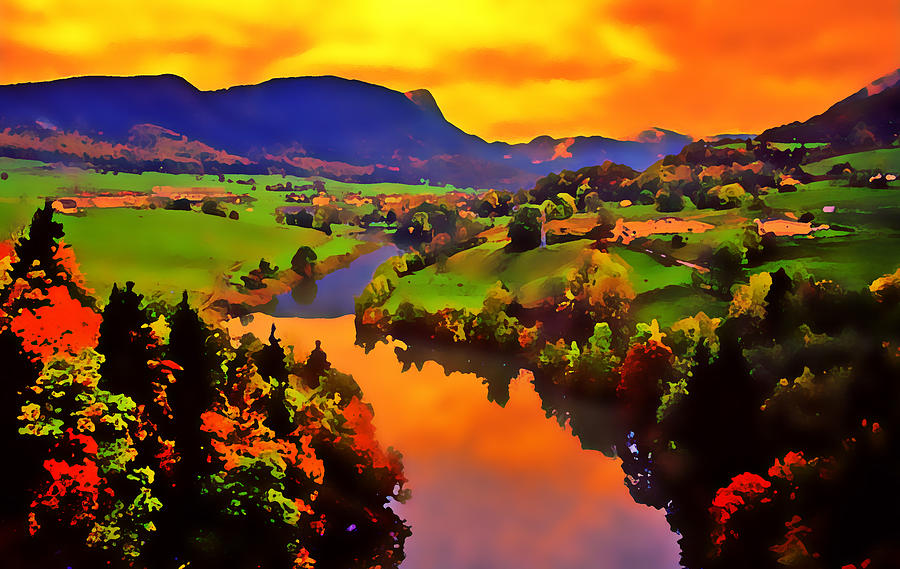 Landscape Photograph - Across The Valley by Stephen Anderson