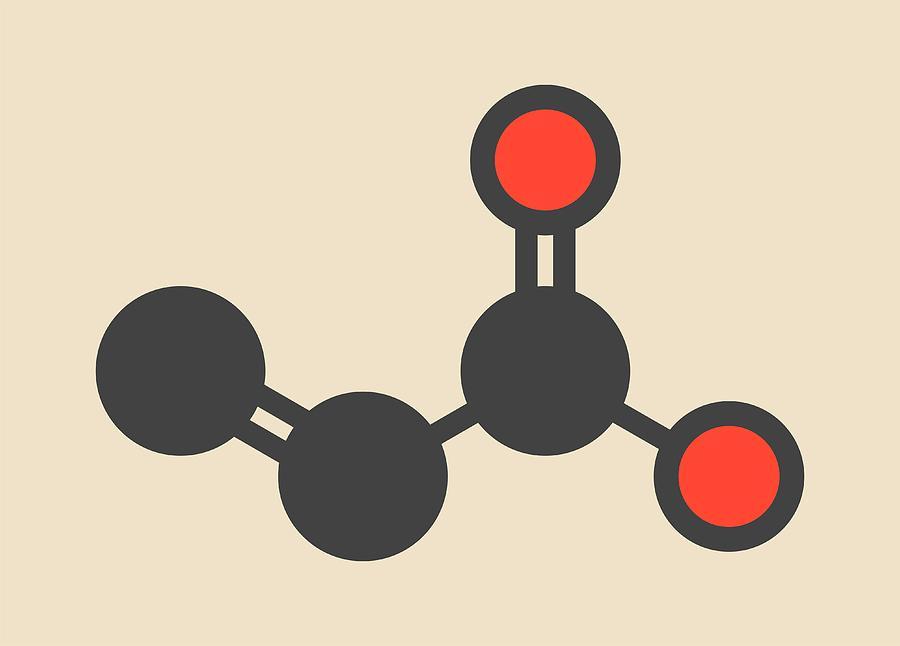 Acrylic Acid Molecule Photograph by Molekuul