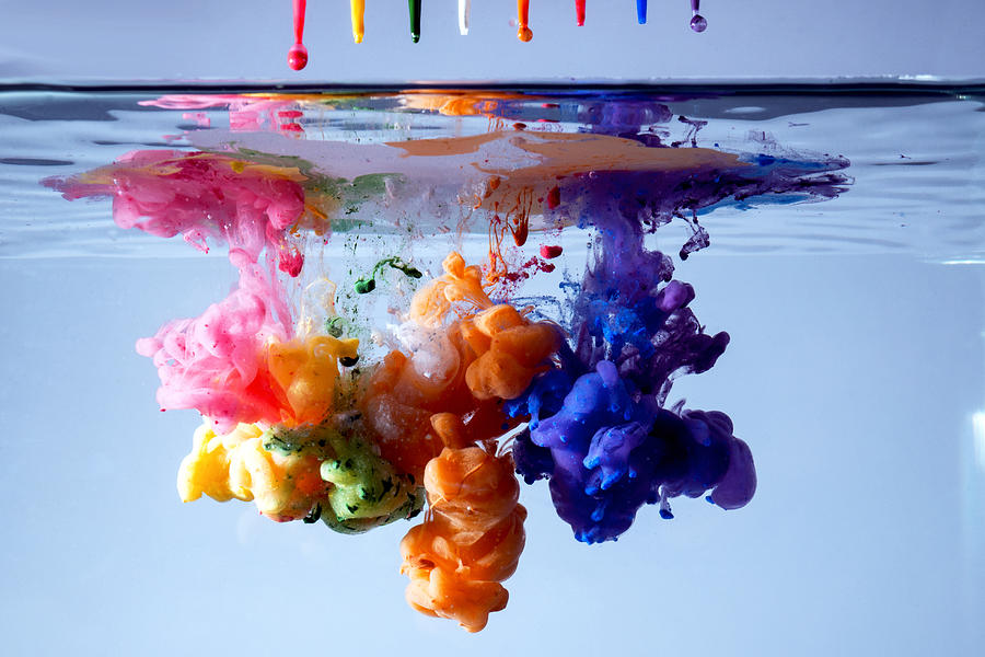 Acrylic Paints In Water Photograph by Antonio Iacobelli