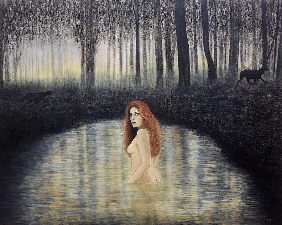 Actaeon and Artemis by Lynet McDonald