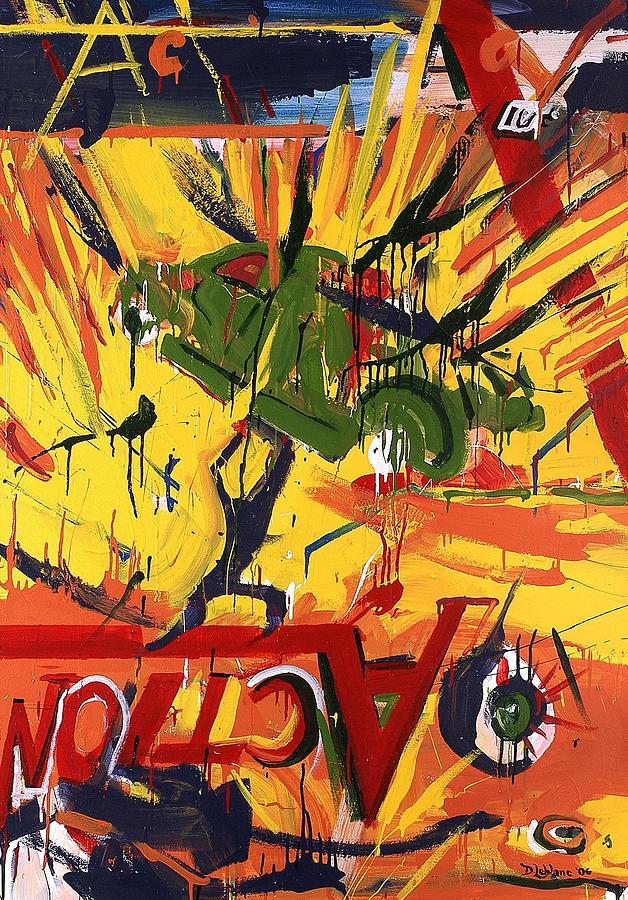 Abstract Painting - Action Abstraction No. 1 by David Leblanc