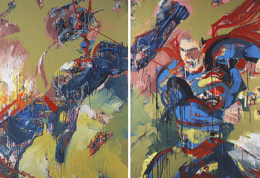 Epic Painting - Action Abstraction No. 20 by David Leblanc