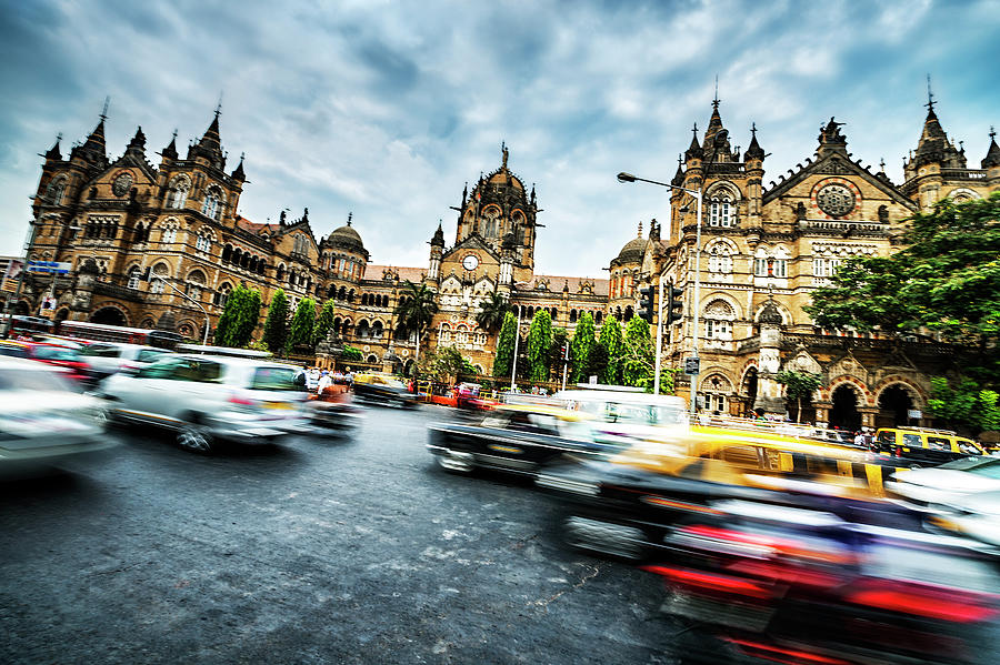 Active Victoria Rail Station In Mumbai Photograph by Extreme-photographer