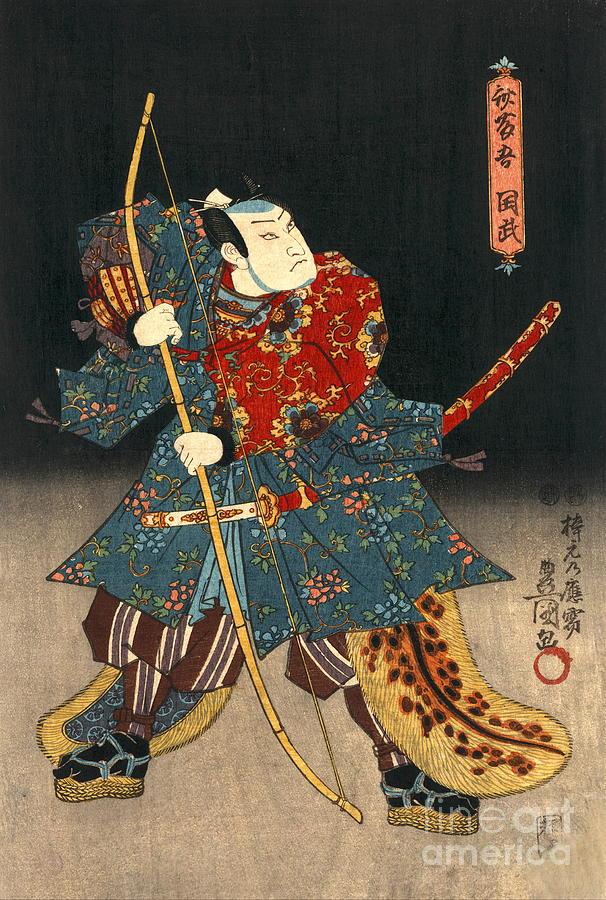Ukiyo-e Photograph - Actor 1847 by Padre Art