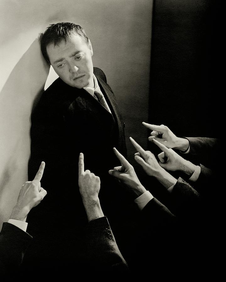 Actor Peter Lorre Posing Against A Wall Photograph by Lusha Nelson