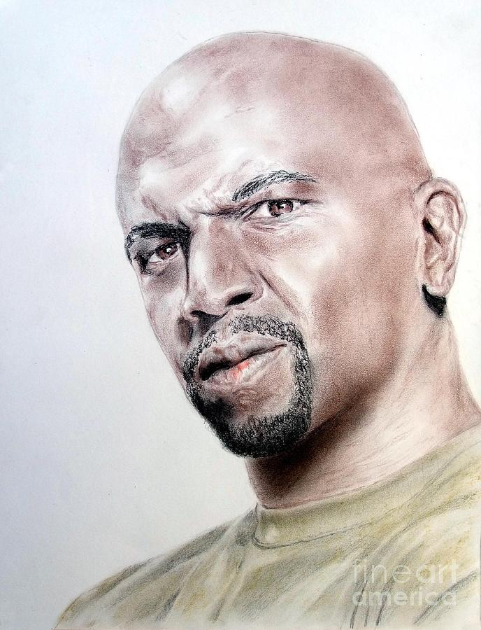 Terry Crews Art >> Actor Terry Crews Drawing by Jim Fitzpatrick