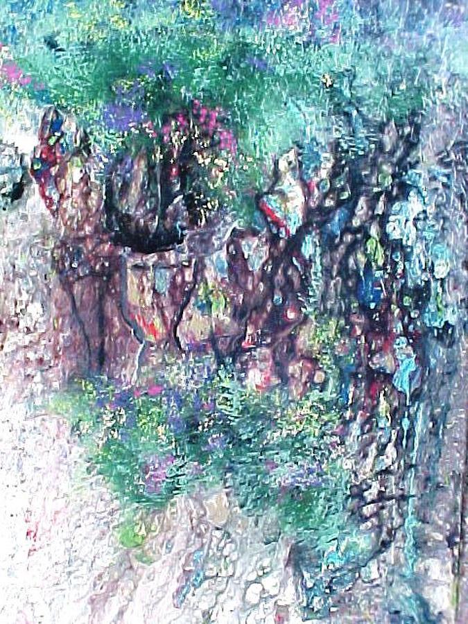 Painting Painting - Actors N Musicians Caravan by Robert Stagemyer