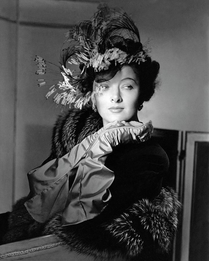 Actress Myrna Loy Photograph by Horst P. Horst