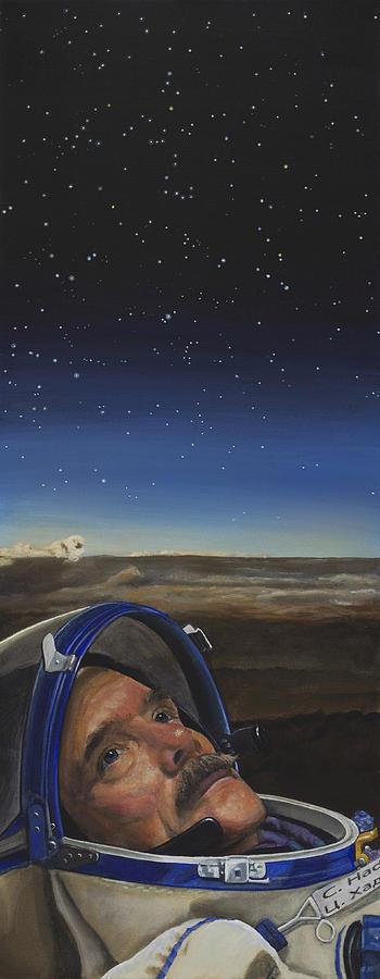 Iss Painting - Ad Astra - Col. Chris Hadfield by Simon Kregar