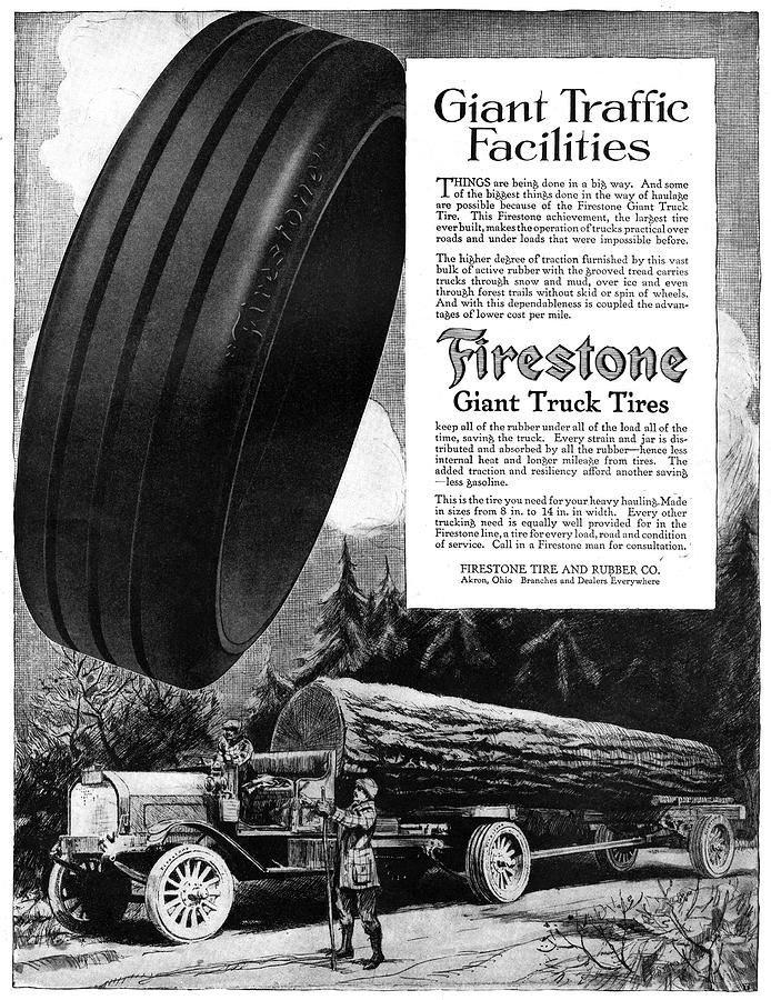 1918 Painting - Ad Firestone, 1918 by Granger