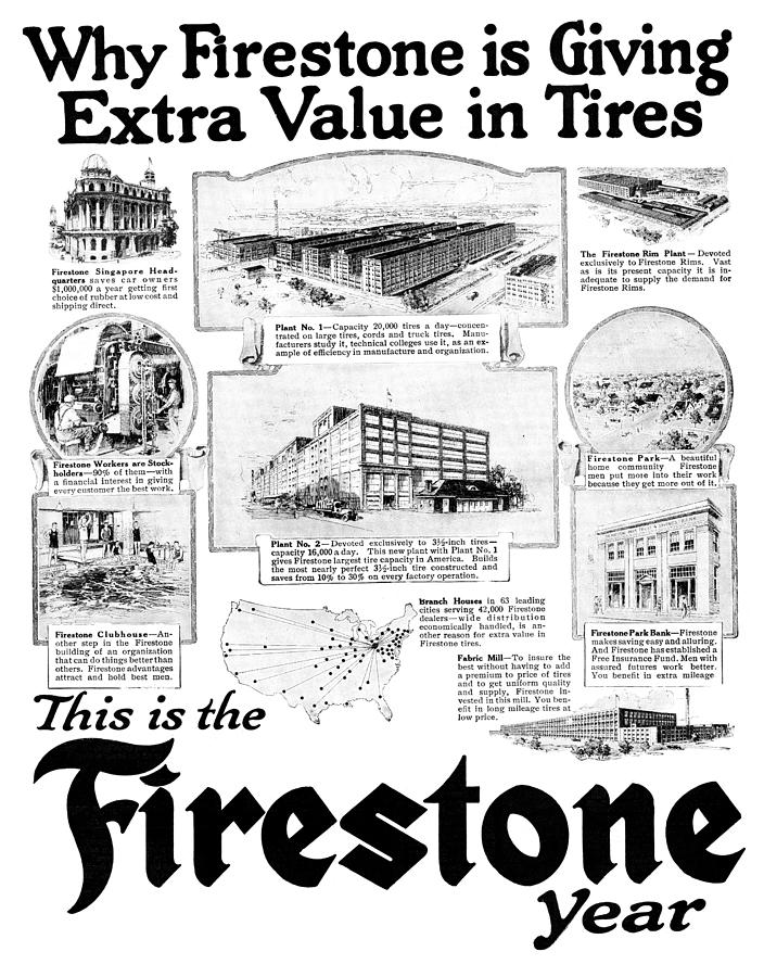 Ad Firestone, 1919 by Granger