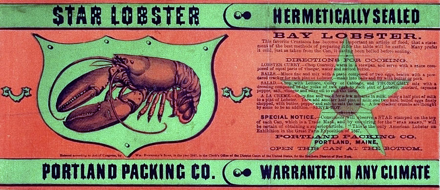 1867 Drawing - Ad Lobster, C1867 by Granger