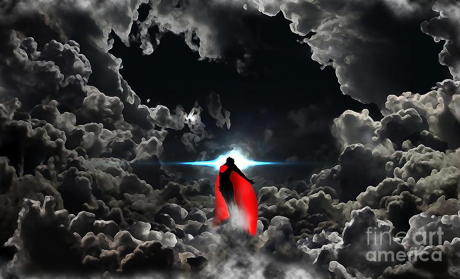 Superman Digital Art - Ad Lucem  by The DigArtisT