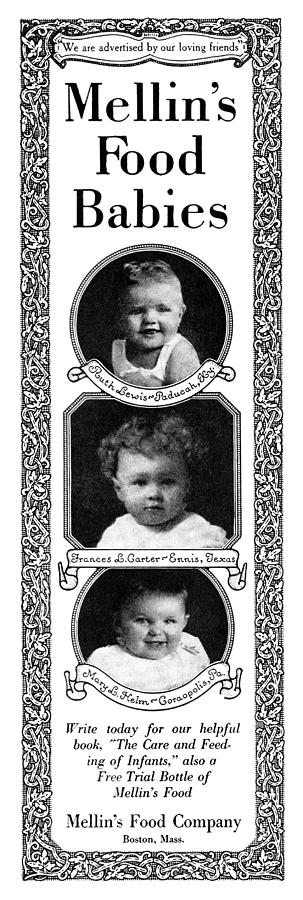 1919 Photograph - Ad Mellins Baby Food by Granger