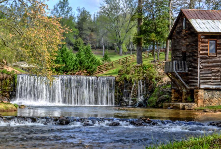 Mill Digital Art - Adairs Mill by Bob Jackson