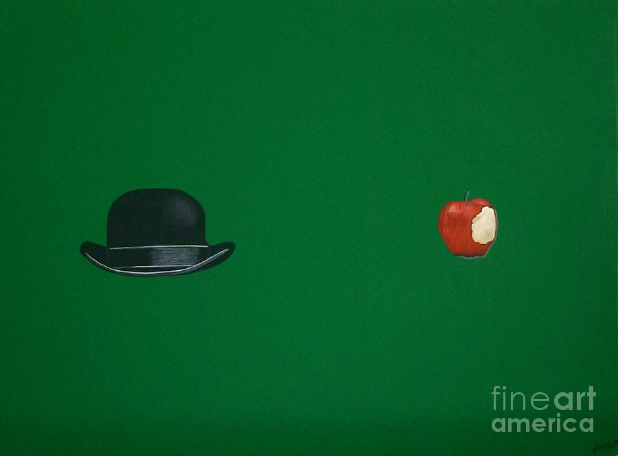 Bowler Hat Painting - Adam And Eve by Venus