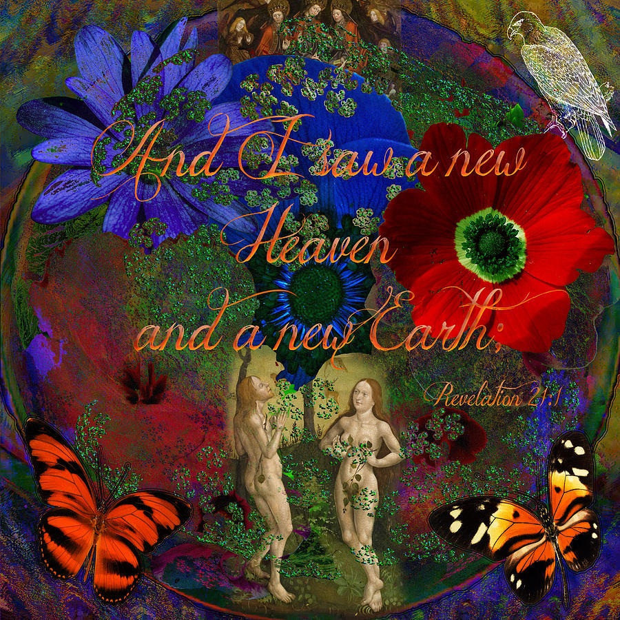Adam And Eves Scriptured Earth Digital Art