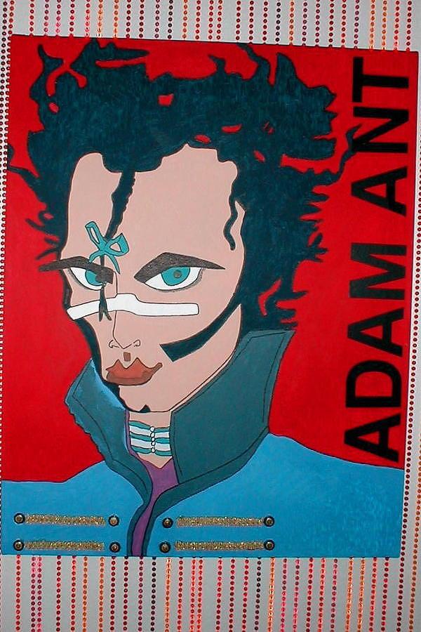 Adam Ant Mixed Media by Lenny J  Cota Jr
