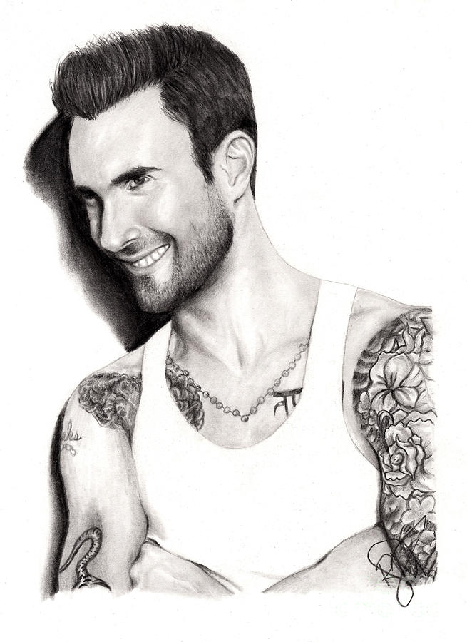 Adam Levine Drawing - Adam Levine by Rosalinda Markle